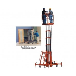 """500 LB. TWO PERSON LIFT, Platform Max.: 15', Height Min.: 6' 4"""", Working Height: 21'"""
