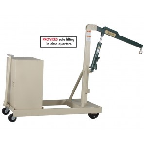 """BEECH COUNTERWEIGHTED CRANE, Boom In Cap. (lbs.): 1000, Boom Out Cap. (lbs.): 600, Boom Reach: 46-54"""", Boom Height: 6-104"""", Load Wheel Size: 8 x 2"""", Steering Wheel Size: 5 x 2"""", Overal Size L x W x H: 63 x 31 x 64"""""""