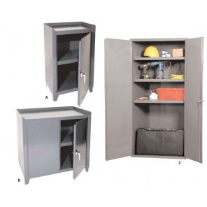 """ALL WELDED STORAGE CABINETS, Photo Ltr. No.: A, No. Shelves: 1 fixed, Overall Size W x D x H: 21 x 15 x 34-1/2"""""""