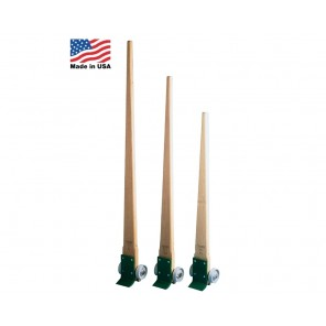 "LEVER DOLLIES, Handle Length: 60"", Cap. (lbs.): 3500, Wheel Polyurethane Mold-on Cast Iron, Handles: 5"" Wide Oak Hardwood"