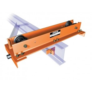 "CONVERTIBLE PUSH END TRUCKS, Cap. (Tons): 1, Top Running ASCE Rail: 25 - 40#, Runway Flange Underhung Width: 3"" - 6"", Wheel Base: 36"", Overall Length: 52-1/4"""