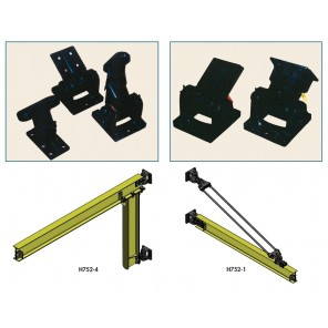 """DO-IT-YOURSELF"" WALL OR COLUMN BRACKET KITS, 311 Tie Rod Type (3 fittings), Capacity: 1/2, 1 ton to 20' Span"