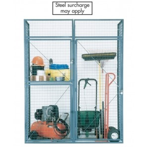 BULK STORAGE LOCKERS, No. of Tiers: Double, Add-on unit, Door W' x D': 3 x 3', Crating Charges: Crating charges will be added