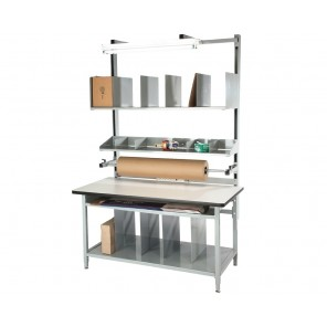 """COMPLETE PACKAGING WORKBENCHES, Size L x W: 60 x 30"""", Top Work Surface: ESD Laminate"""
