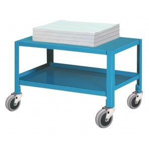 """SECURITY COMPUTER WORK STATION MOBILE PAPER / SUPPLY CART, Size W x D x H: 16 x 16 x 14"""""""