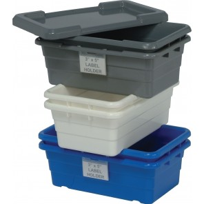 "QUANTUM CROSS STACK TUBS, Blue, Cross Stack Tubs, Size L x W x H: 17-1/4 x 11 x 8"", Ctn. Qty.: 6"