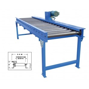 """CHAIN DRIVEN LIVE ROLLER CONVEYORS, Overall Width: 28"""", Usable Width: 21"""", Max Length: 80', Pricing Unit: 5' Base Length"""