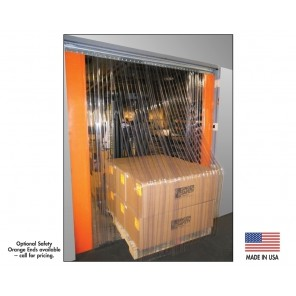 "STRIP DOORS, Width: 12"" W. Strip Kit, Thickness: 0.120"", Material: Ribbed, Size W x H: 8' x 10', Overlap: 0.67"