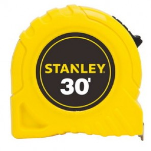 Stanley® 30-464 Tape Rule, 1 in W x 25 ft L Blade, Polymer Coated Steel, SAE, 1/16ths