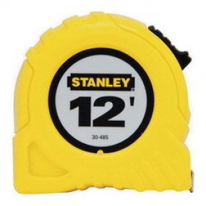 Stanley® 30-485 Tape Rule, 1/2 in W x 12 ft L Blade, Polymer Coated Steel, Imperial, 1/16ths, 1/32nds