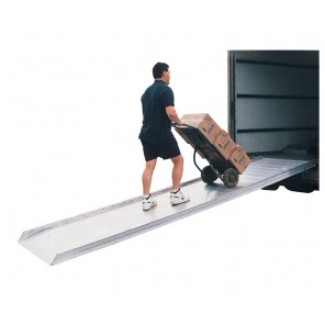 "ALUMINUM WALK RAMPS, Size: 28"" WIDE / 26"" USABLE, A, Height Range: 6 - 21"", Overall Length: 72"", 4-Whl. Cart Cap. (lbs.): 2800, 2-Whl. Cart Cap. (lbs.): 2000"