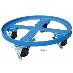 HEAVY DUTY DOLLY, Acceptable Styles: 55 gal. steel, Cap. (lbs.): 2000, Caster Glass Filled Nylon