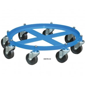 OCTO DOLLY, Acceptable Styles: 55 gal. steel, Cap. (lbs.): 2000, Caster Cast Iron