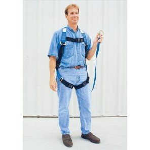 WEB LANYARD w/SAFETY HARNESS, Size: XX-Large, Cap. (lbs.): 350, Length of Lanyard: 6'